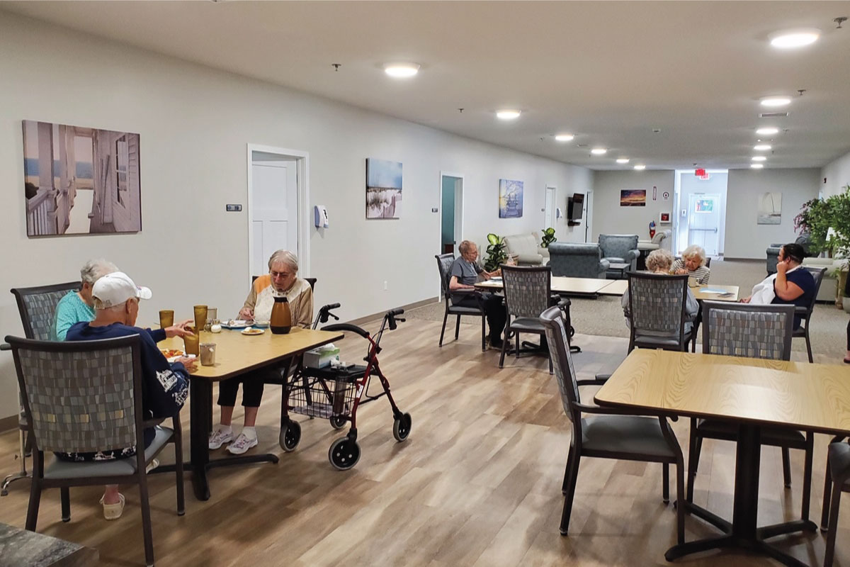Village Manor Assisted Living dining area